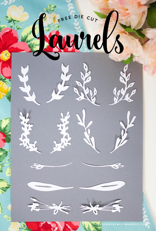 Die Cut Laurels