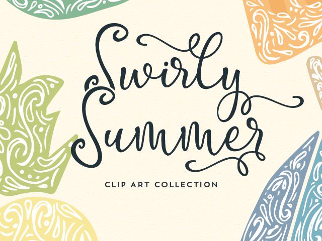 Swirly Summer Graphics