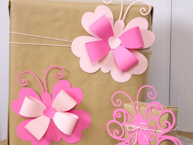 Lovebugs - Die Cut Butterfly Valentine Bows