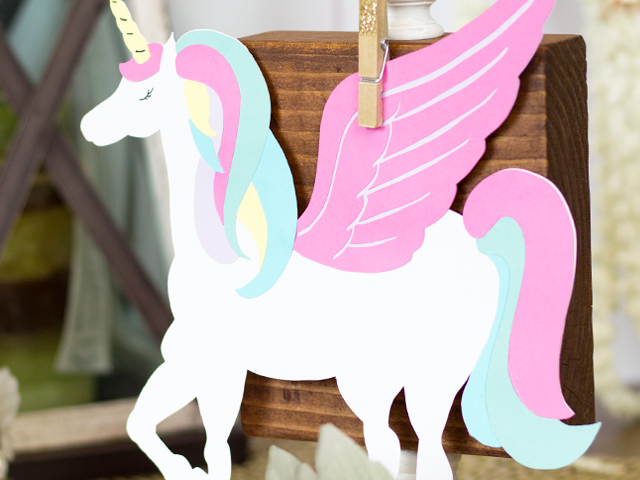 Die Cut Unicorn
