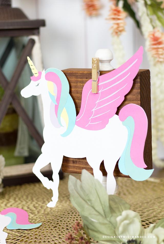 Die Cut Unicorn