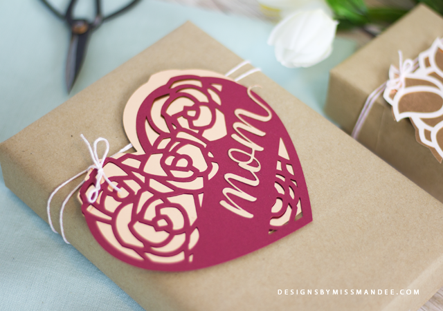 Mother's Day Heart Gift Tags