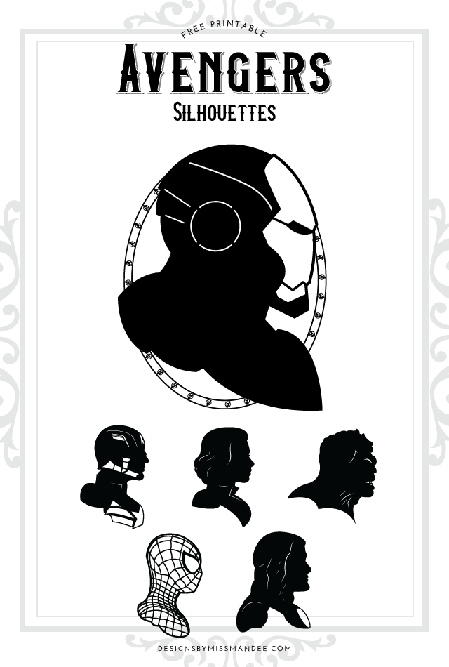 Avengers Silhouettes Designs By Miss Mandee