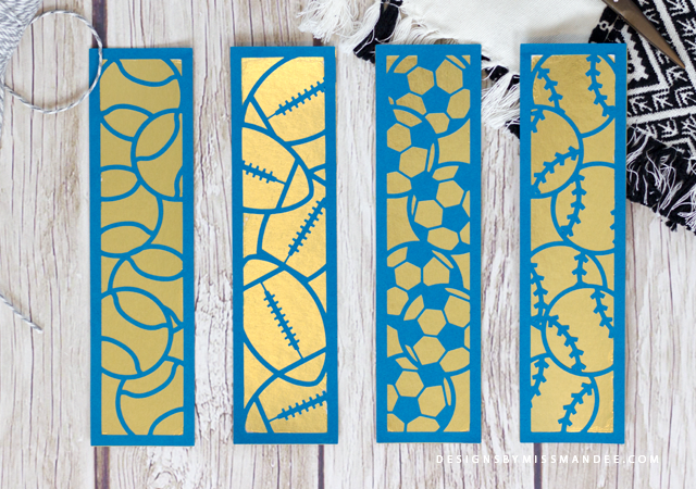 Die Cut Sports Bookmarks