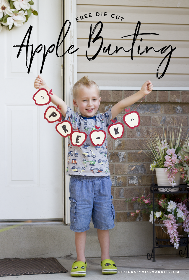 Die Cut Apple Bunting