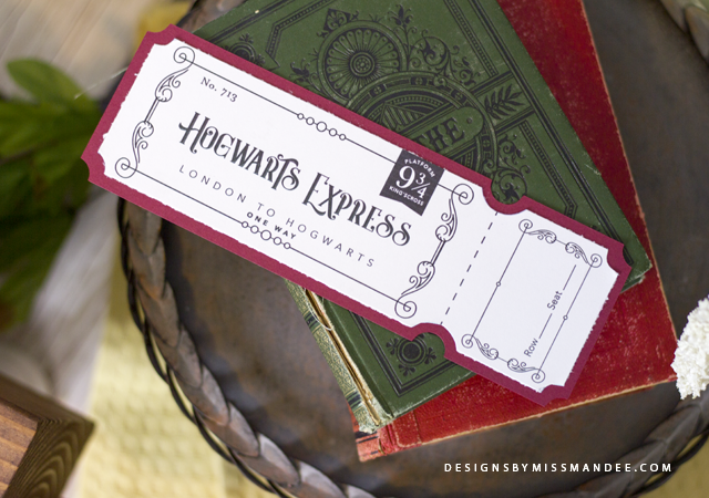 photograph regarding Hogwarts Express Printable identify System 9 3/4 Coach Ticket Patterns Via Overlook Mandee