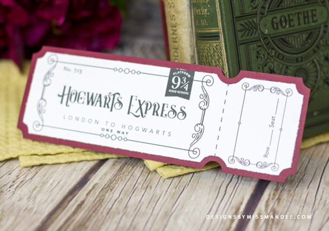 image relating to Hogwarts Express Printable named System 9 3/4 Coach Ticket Strategies By means of Pass up Mandee
