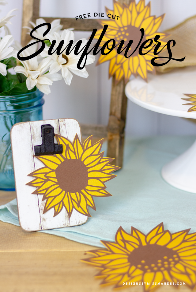 Die Cut Sunflowers