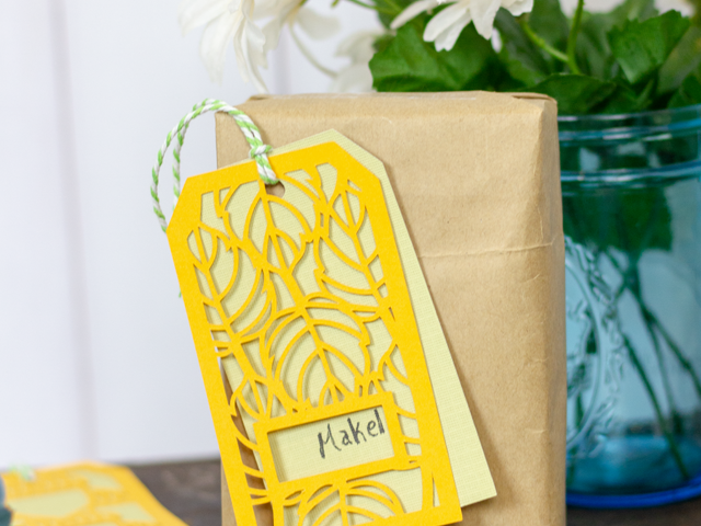 Die Cut Fall Gift Tags