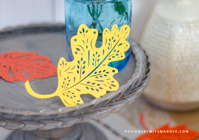 Die Cut Patterned Leaves