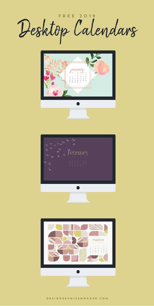 2019 Desktop Calendars