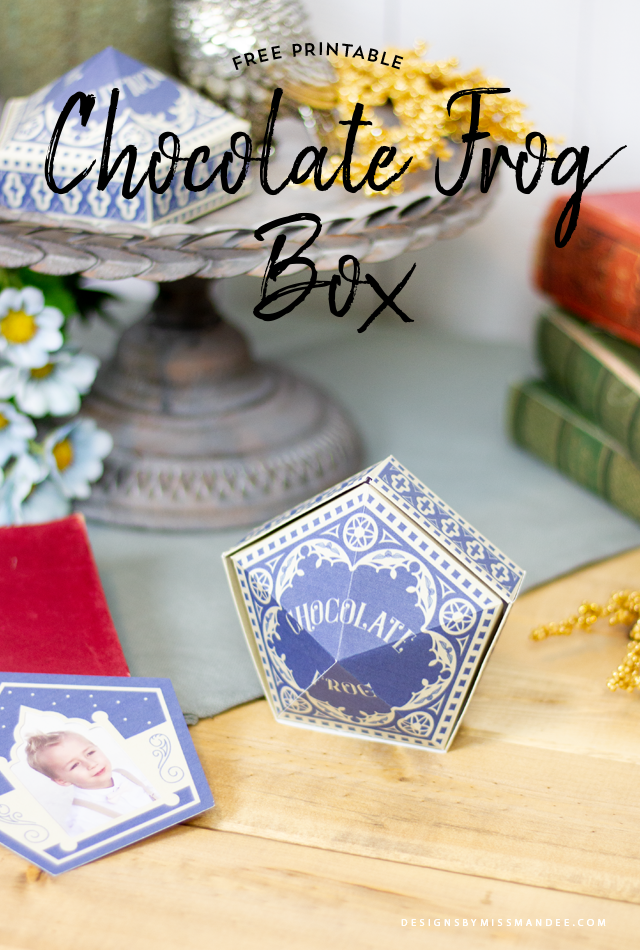 photograph about Chocolate Frog Printable named Chocolate Frog Box - Harry Potter Printable Strategies Through