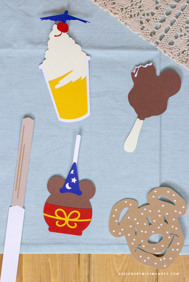 Die Cut Disneyland Snacks