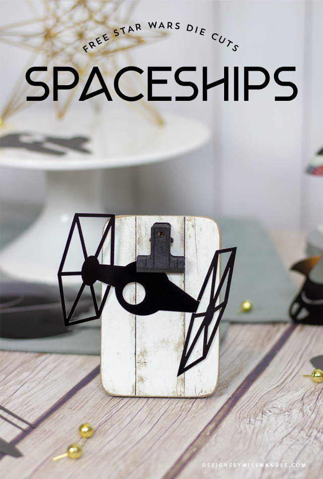 Die Cut Star Wars Spaceships