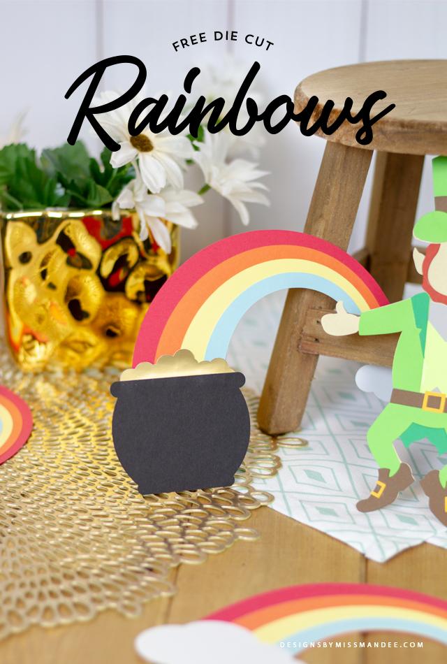 Die Cut Rainbows