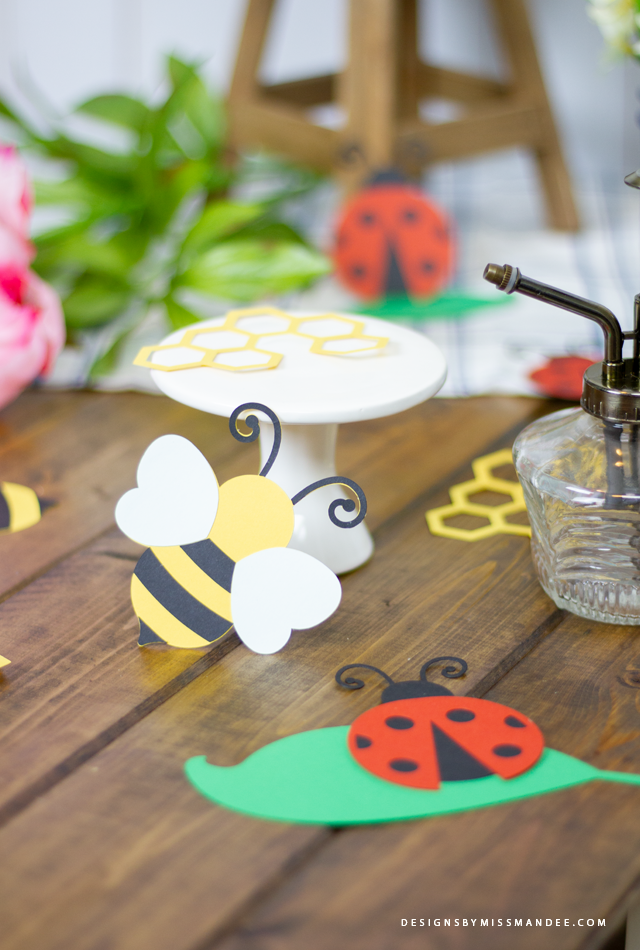 Die Cut Ladybugs and Bees