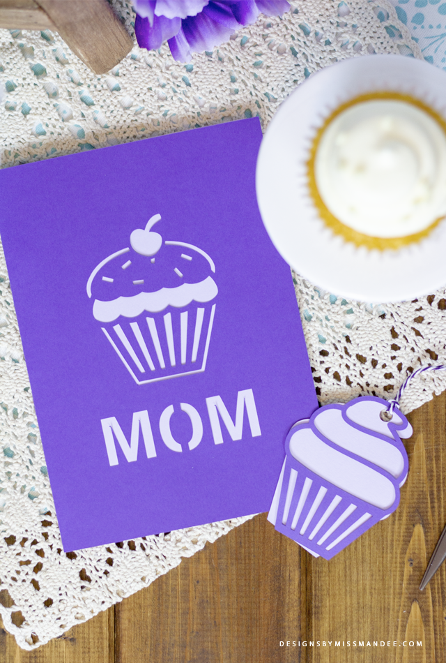 Mothers Day Cupcake Card
