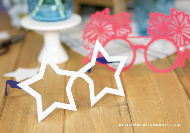 Die Cut 4th of July Glasses