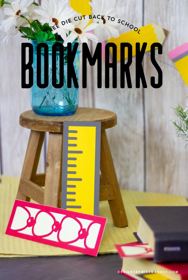 Die Cut Back to School Bookmarks