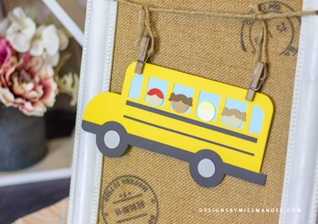 Die Cut School Bus