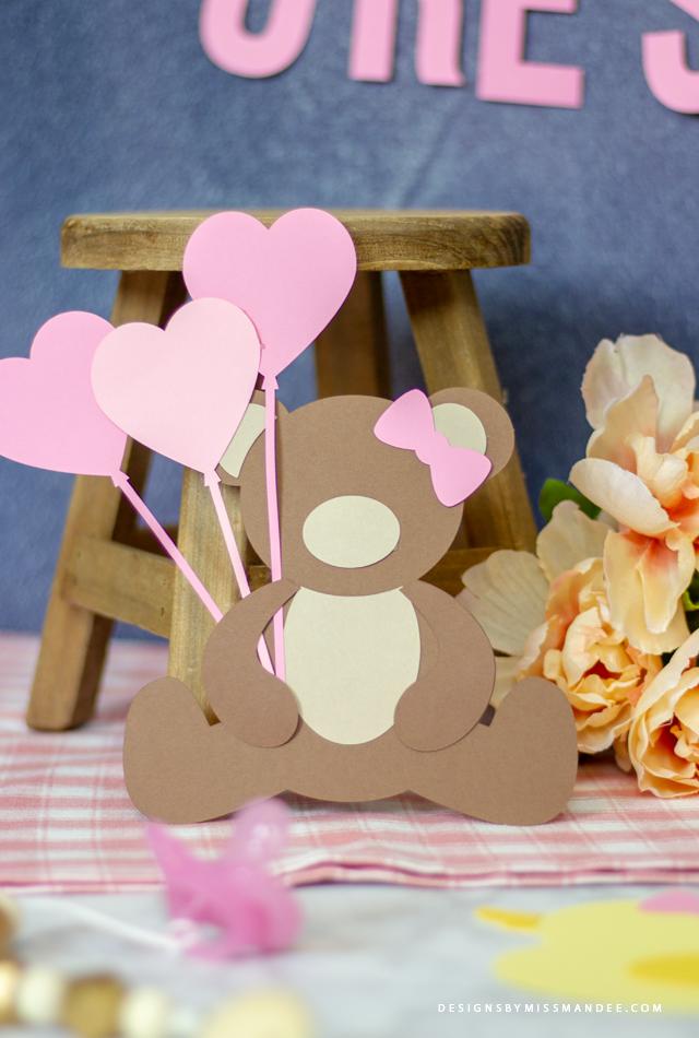 Die Cut Teddy Bears and Rubber Ducks