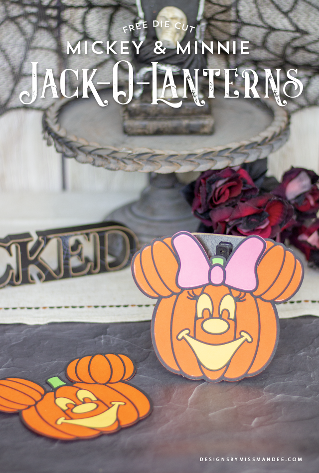 Mickey and Minnie Jack-O-Lanterns