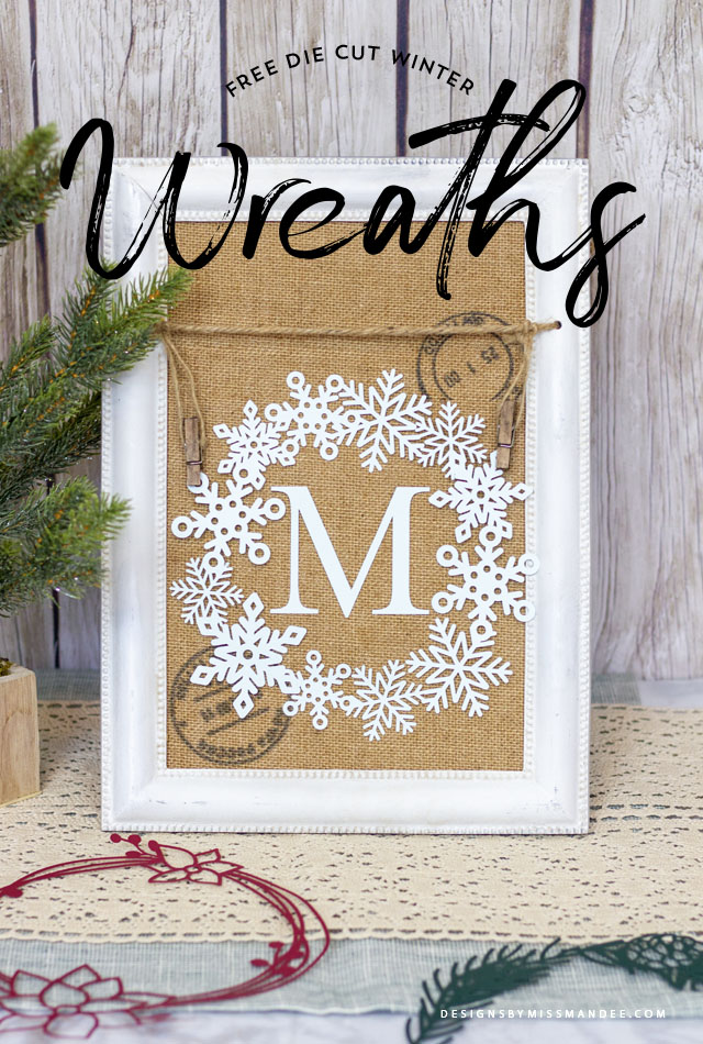 Die Cut Winter Wreaths