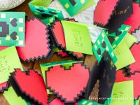 Minecraft Valentine Cards