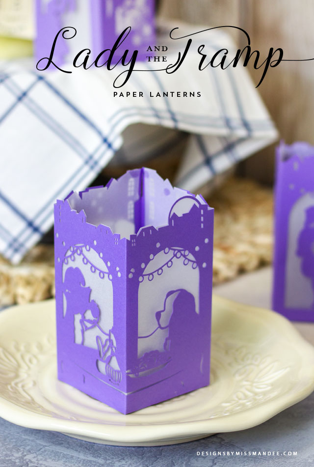 Lady and the Tramp Paper Lantern