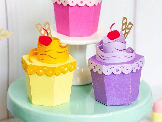 3D Cupcake Treat Boxes