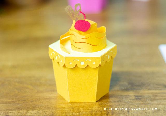 3D Cupcake Treat Boxes