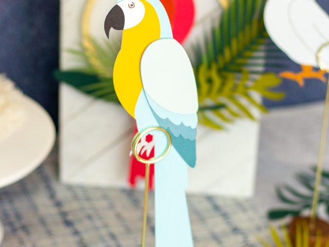 Die Cut Tropical Birds
