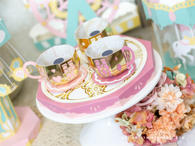 Die Cut 3D Teacup Ride