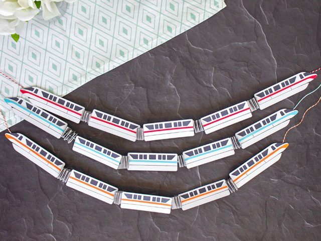 Die Cut Disney Monorail